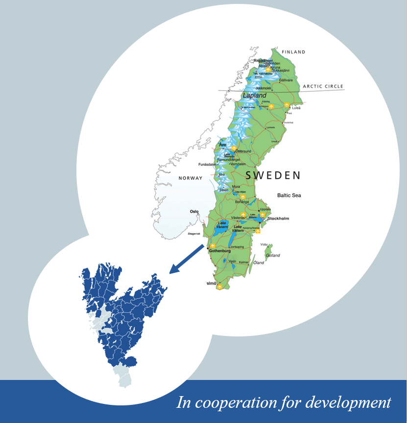 map of Western Sweden